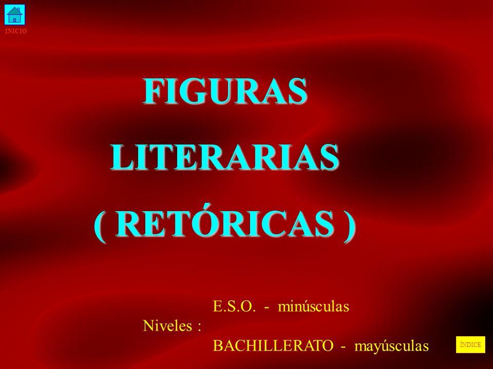 FIGURAS LITERARIAS ( RETÓRICAS )
