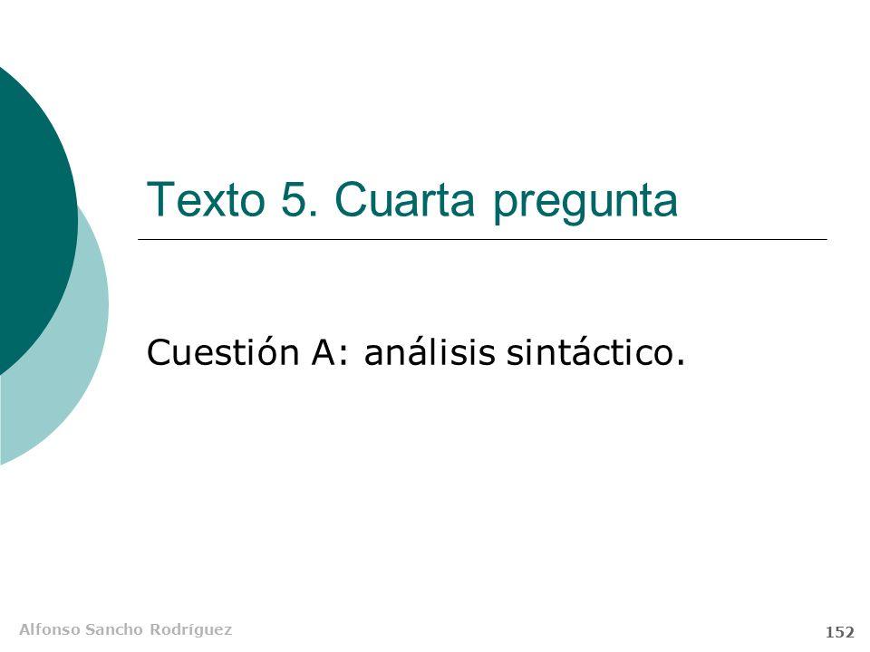 Cuestión A: análisis sintáctico.