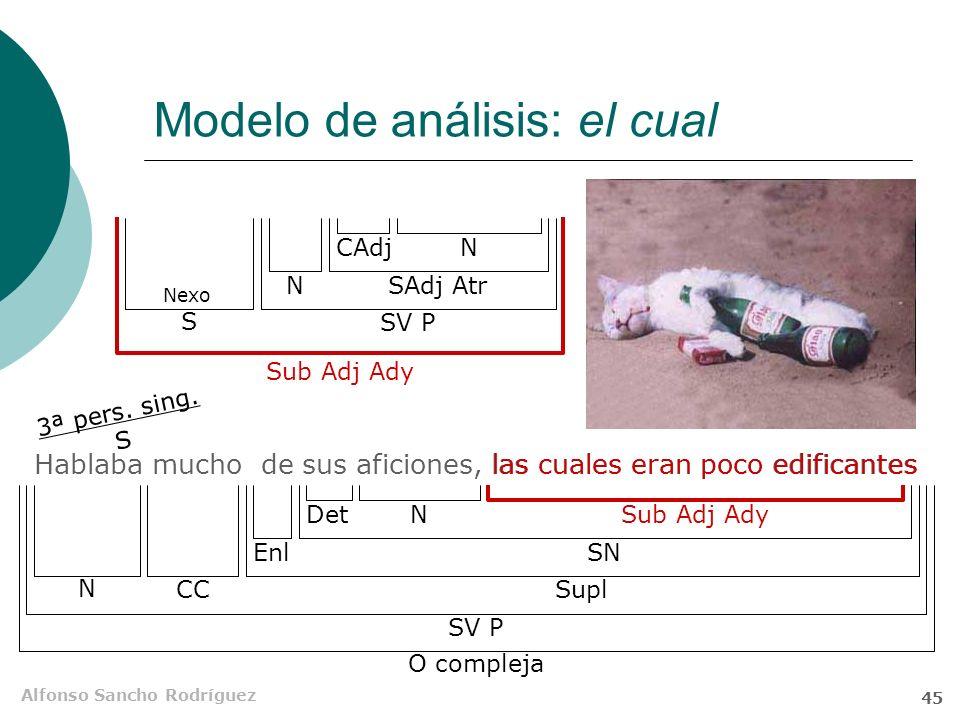 Modelo de análisis: el cual