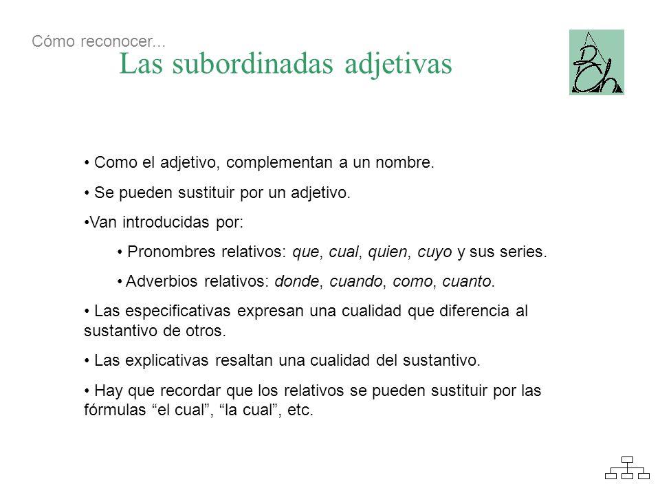 Las subordinadas adjetivas