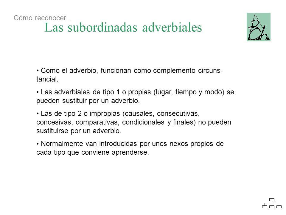 Las subordinadas adverbiales