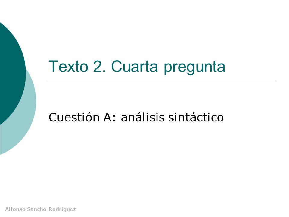 Cuestión A: análisis sintáctico