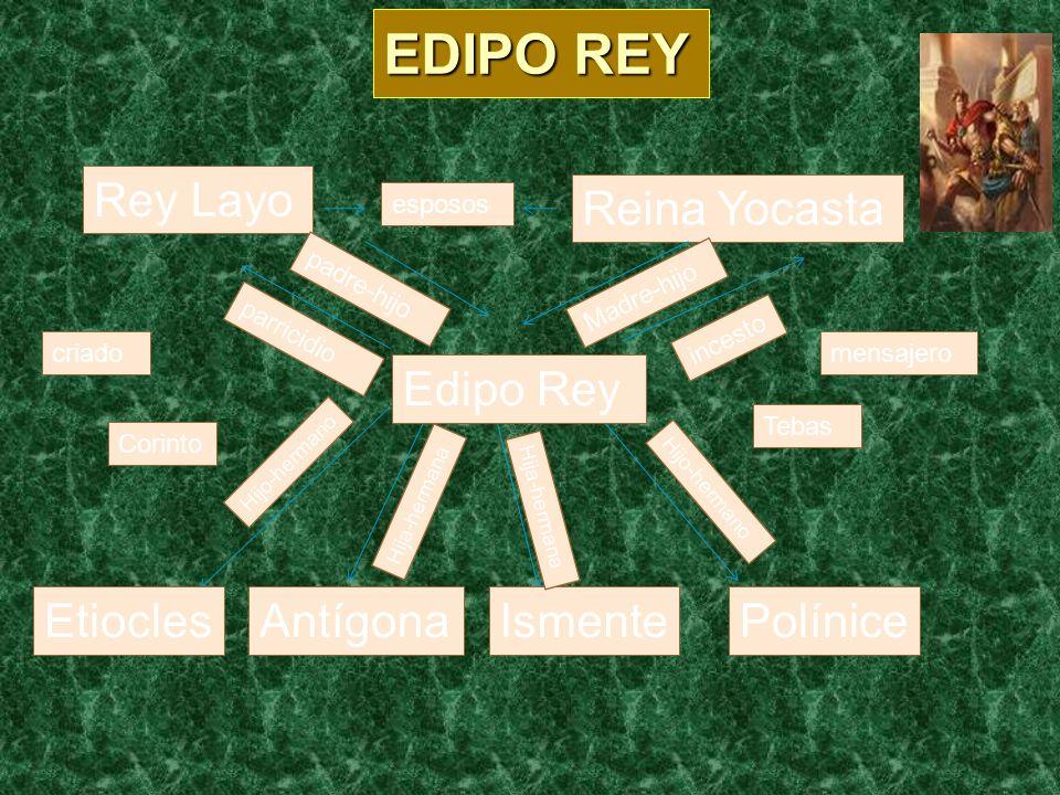 EDIPO REY Rey Layo Reina Yocasta Edipo Rey Etiocles Antígona Ismente