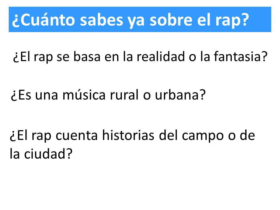 ¿Cuánto sabes ya sobre el rap