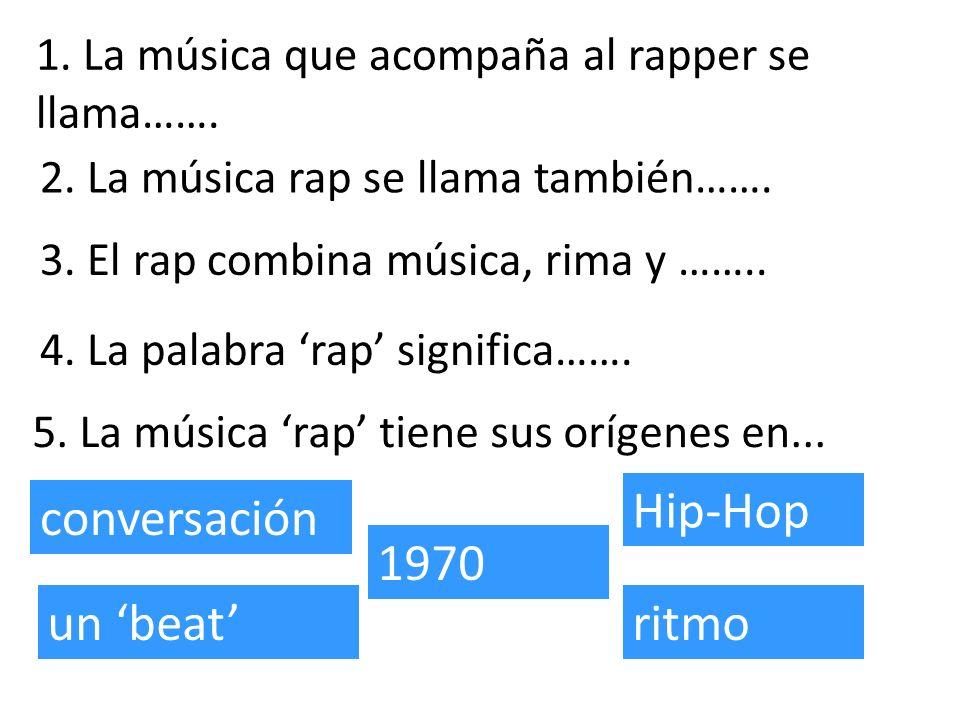 Hip-Hop conversación 1970 un 'beat' ritmo
