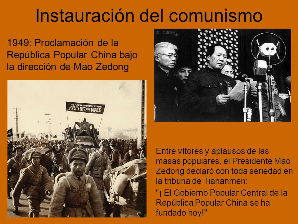 Instauración del comunismo