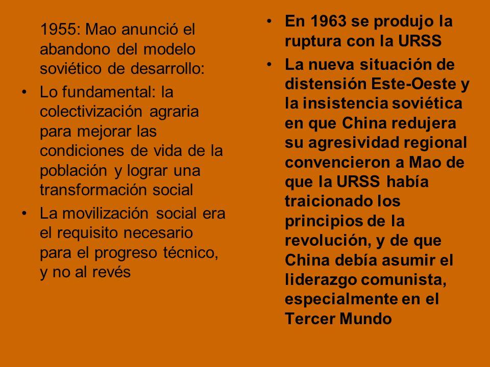 En 1963 se produjo la ruptura con la URSS