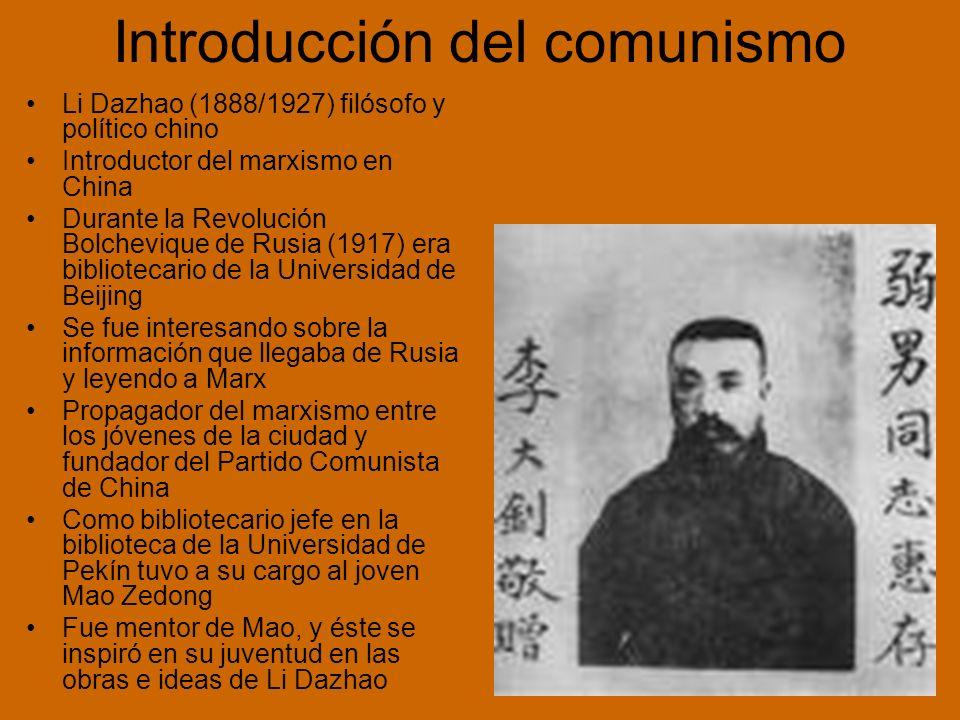 Introducción del comunismo