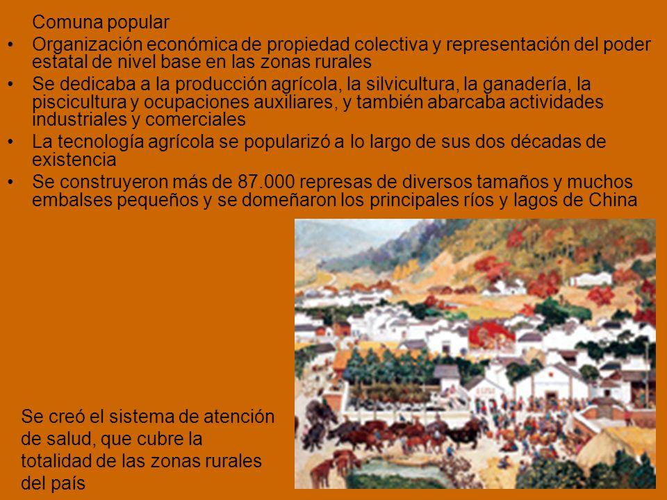Comuna popular Organización económica de propiedad colectiva y representación del poder estatal de nivel base en las zonas rurales.