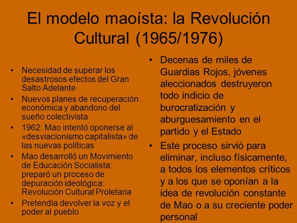 El modelo maoísta: la Revolución Cultural (1965/1976)