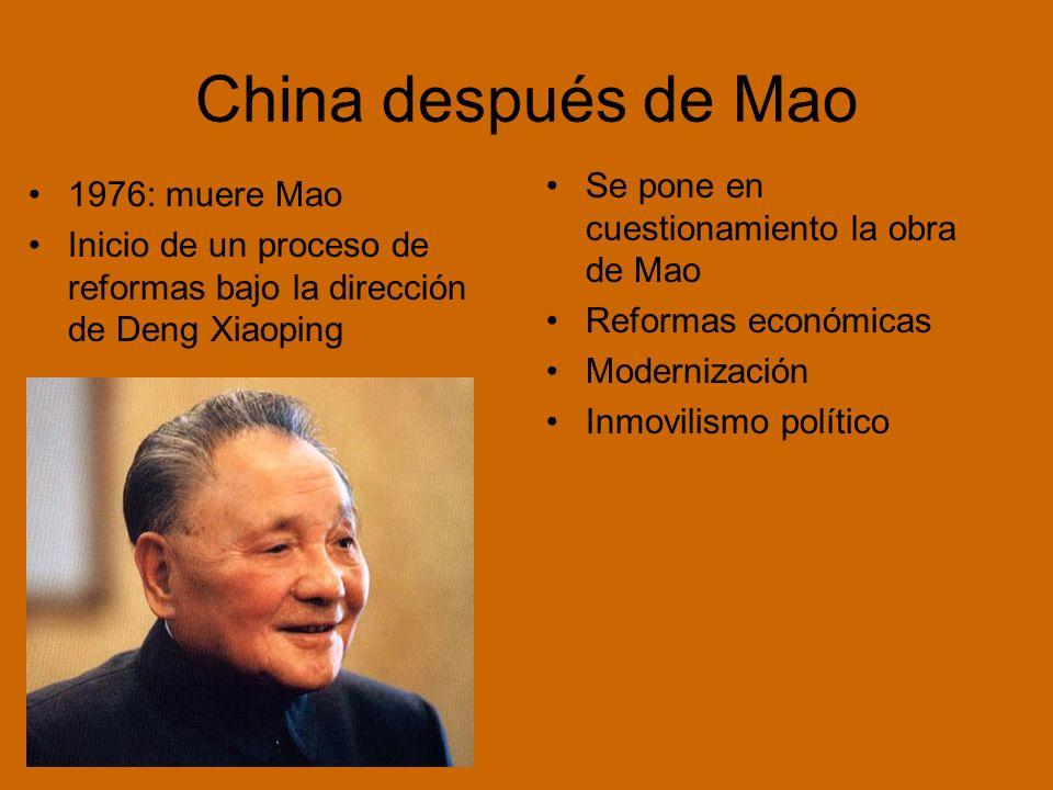 China después de Mao Se pone en cuestionamiento la obra de Mao