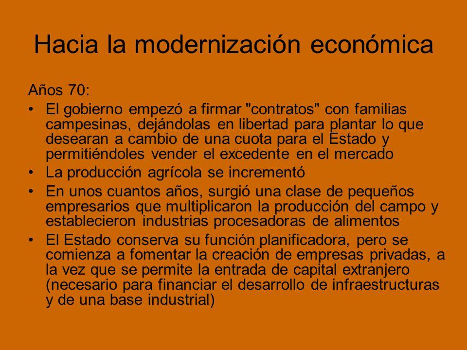 Hacia la modernización económica