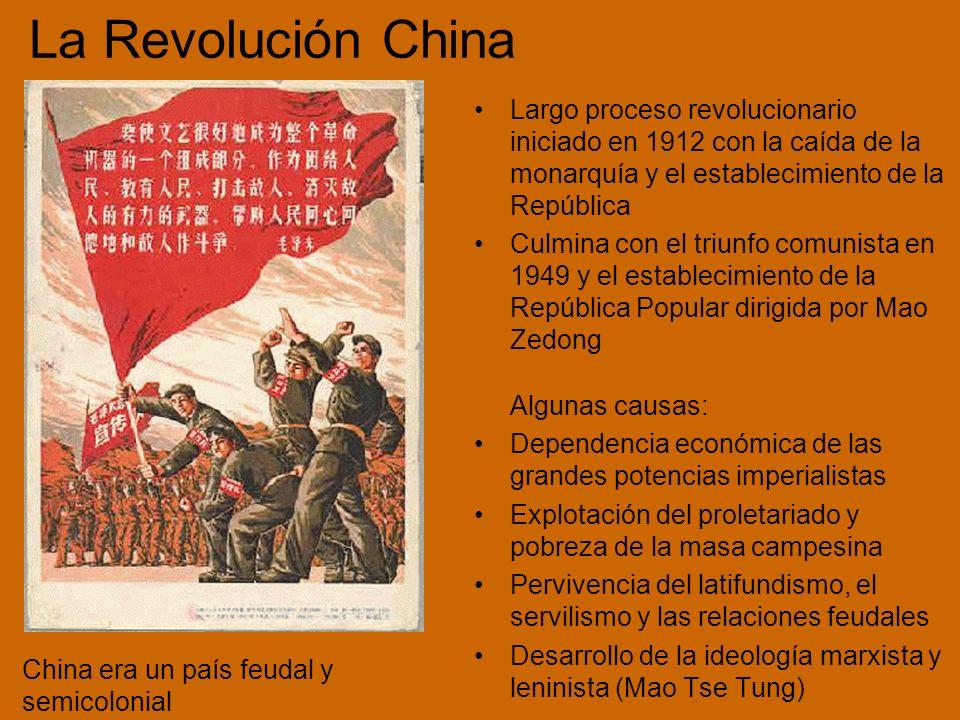 La Revolución China Largo proceso revolucionario iniciado en 1912 con la caída de la monarquía y el establecimiento de la República.