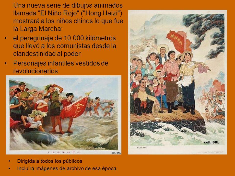 Personajes infantiles vestidos de revolucionarios