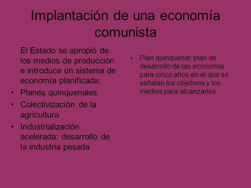 Implantación de una economía comunista