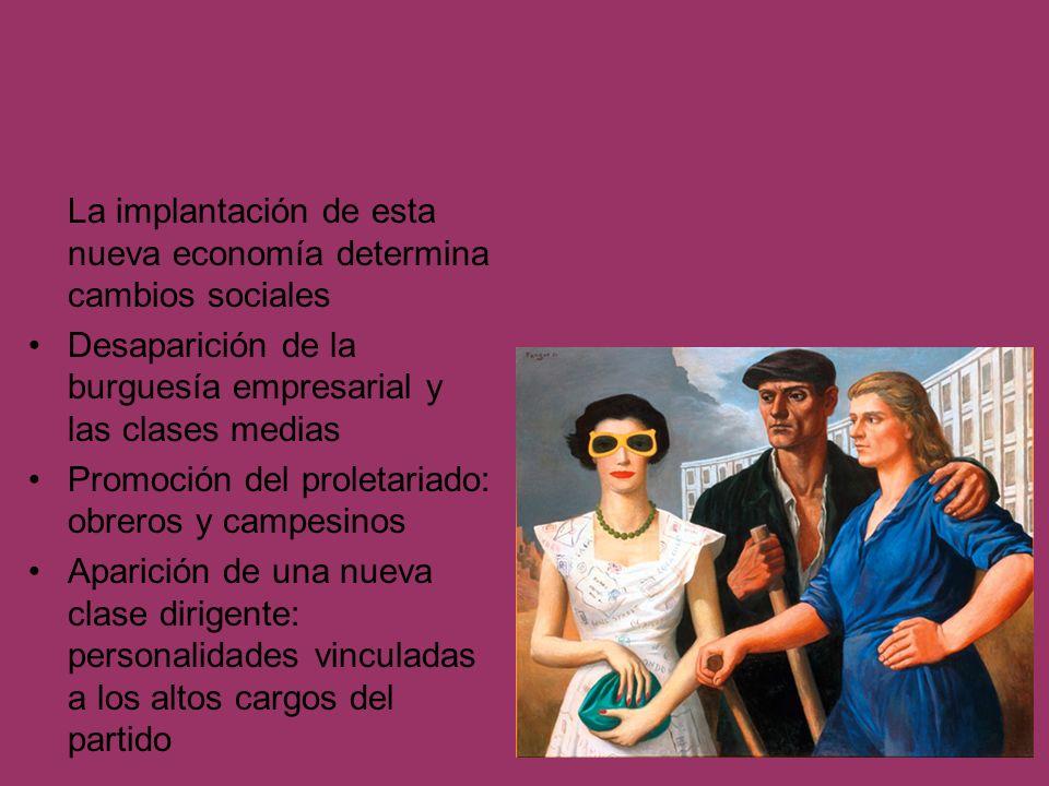 La implantación de esta nueva economía determina cambios sociales