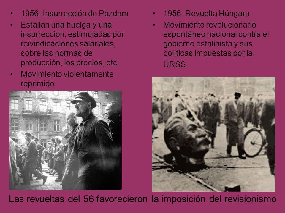 Las revueltas del 56 favorecieron la imposición del revisionismo
