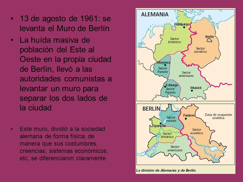 13 de agosto de 1961: se levanta el Muro de Berlín