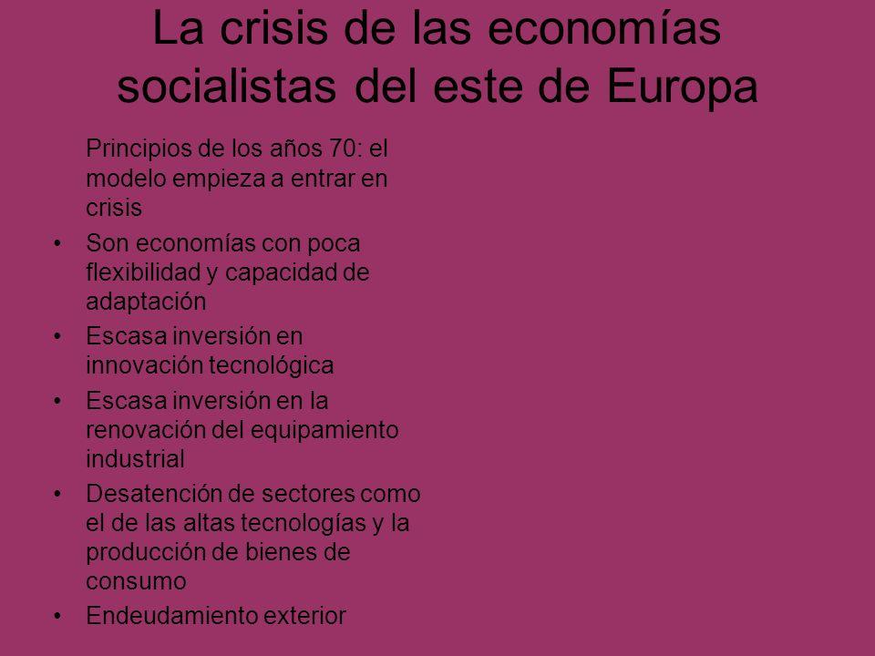 La crisis de las economías socialistas del este de Europa