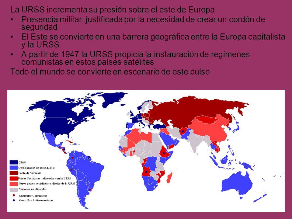 La URSS incrementa su presión sobre el este de Europa