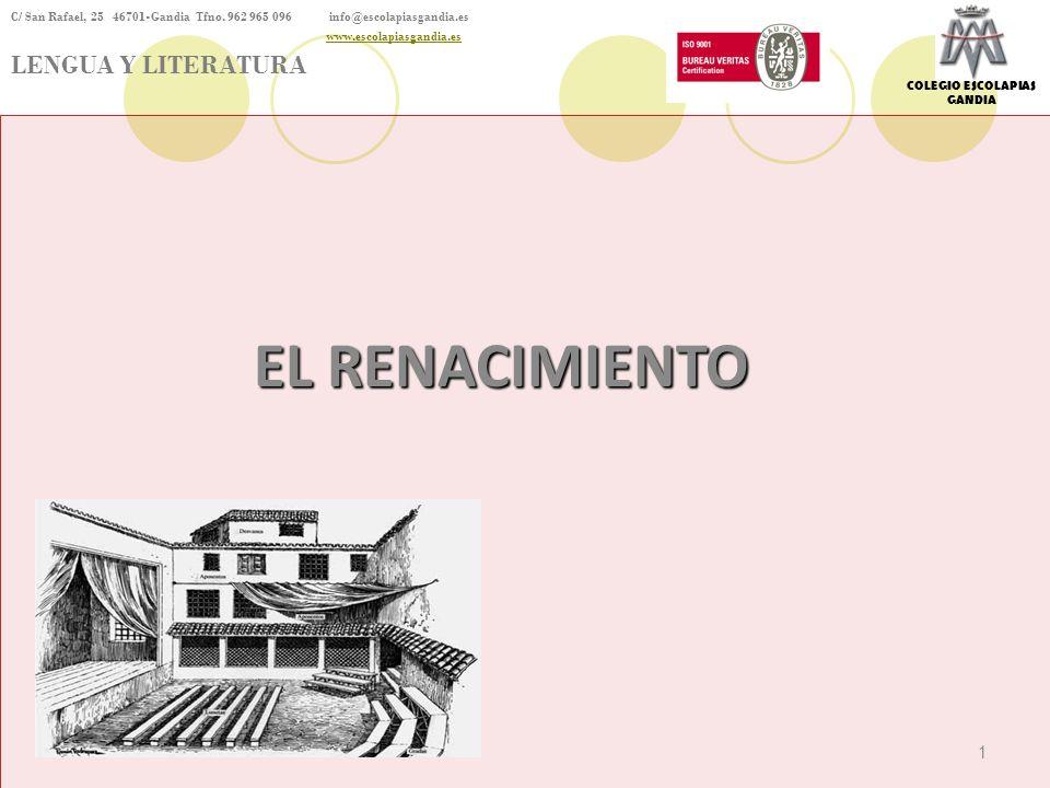 EL RENACIMIENTO LENGUA Y LITERATURA 1 1