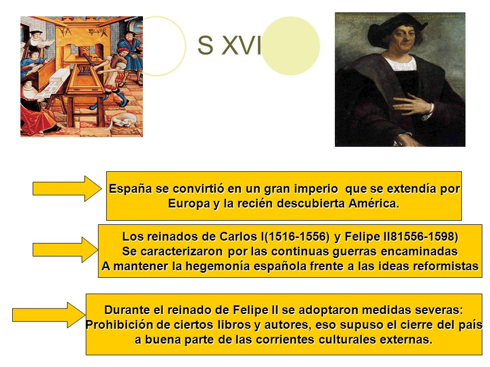 S XVI España se convirtió en un gran imperio que se extendía por
