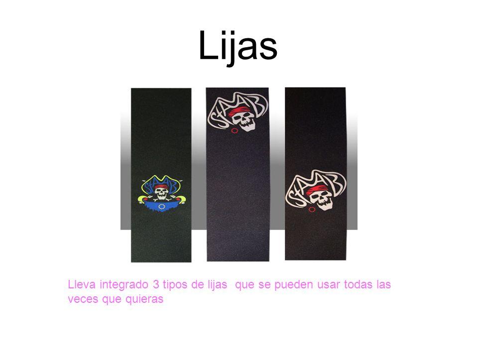 Lijas Lleva integrado 3 tipos de lijas que se pueden usar todas las veces que quieras
