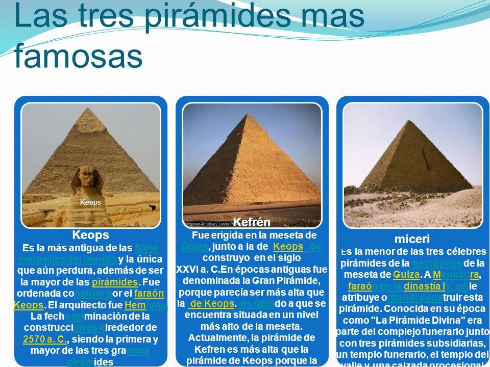 Las tres pirámides mas famosas