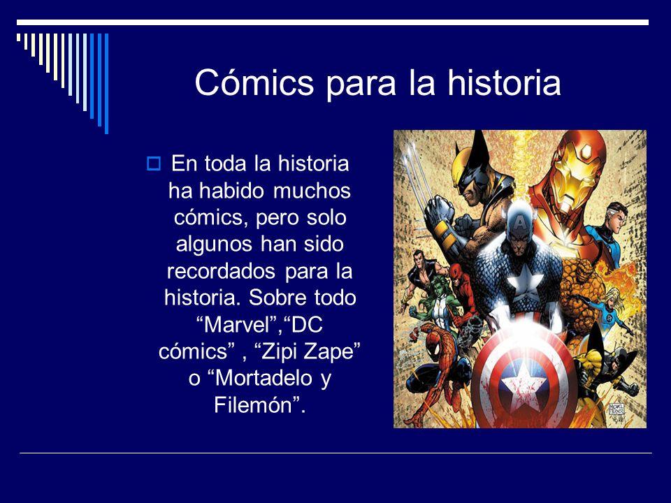 Cómics para la historia