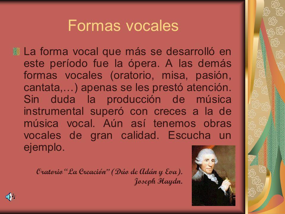 Formas vocales