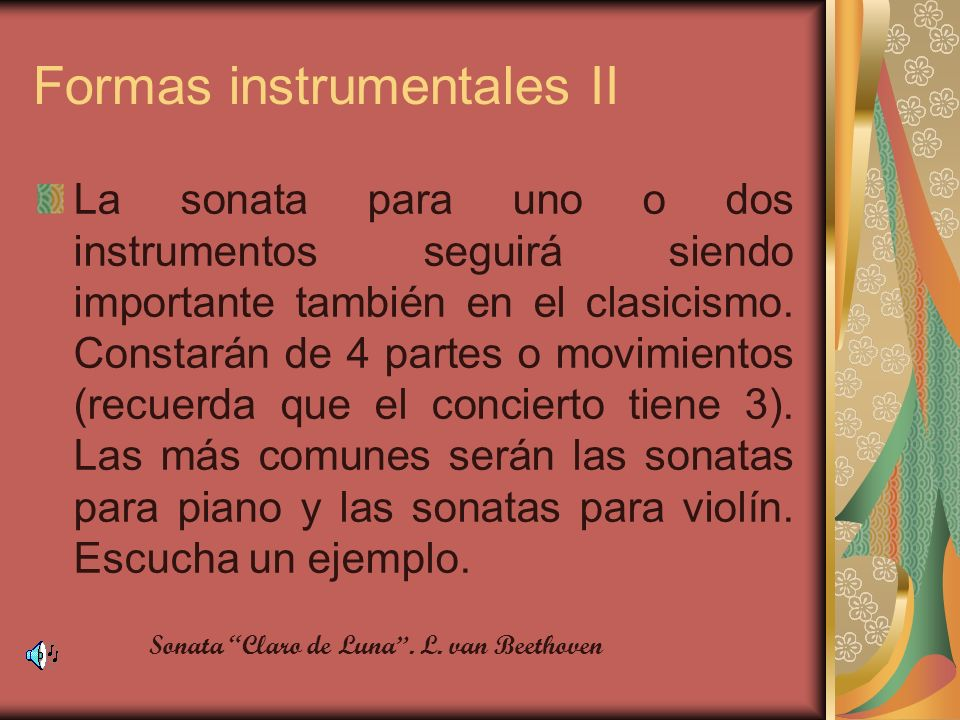 Formas instrumentales II