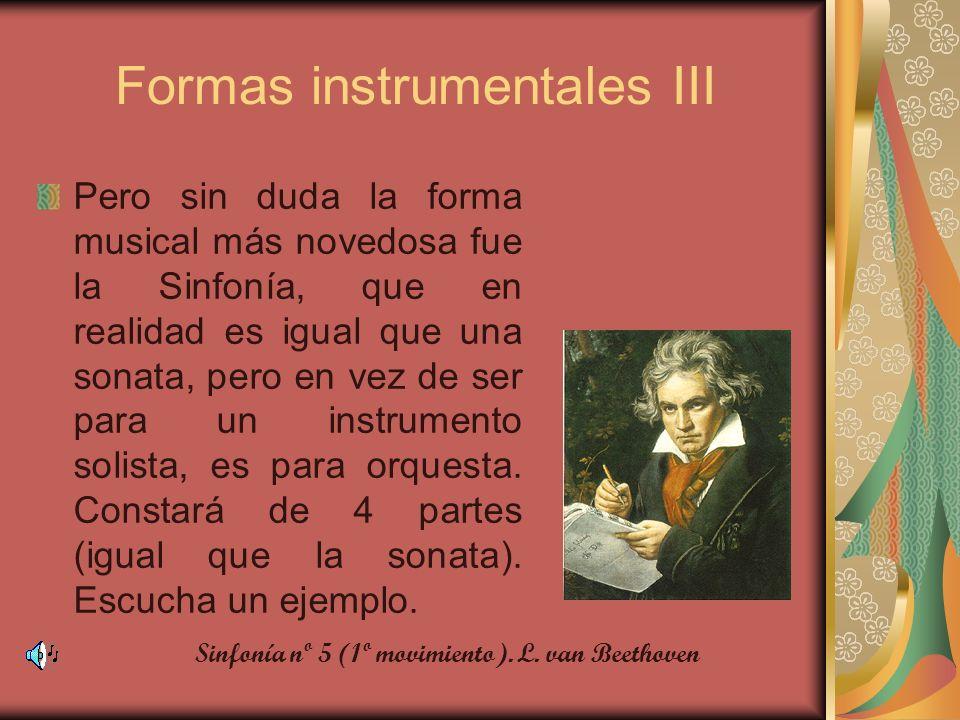 Formas instrumentales III