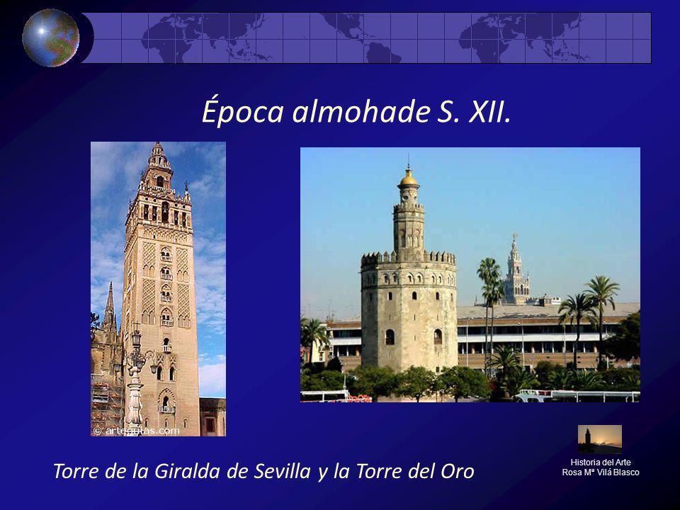 Época almohade S. XII. Torre de la Giralda de Sevilla y la Torre del Oro.
