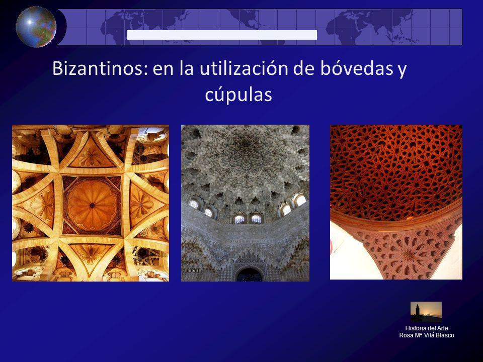 Bizantinos: en la utilización de bóvedas y cúpulas