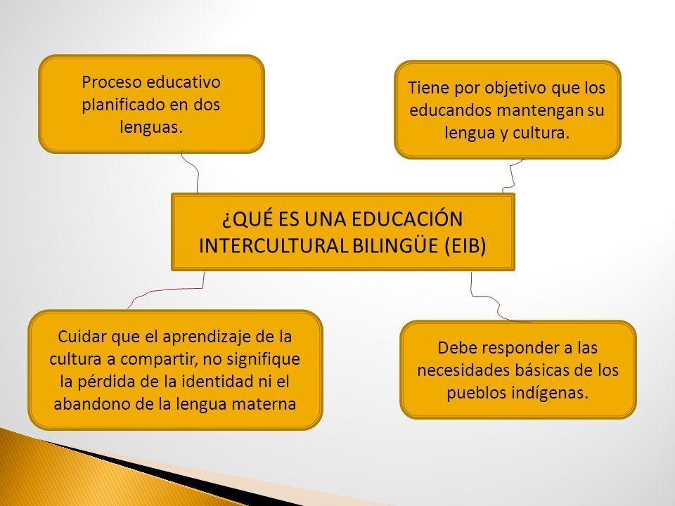 ¿QUÉ ES UNA EDUCACIÓN INTERCULTURAL BILINGÜE (EIB)