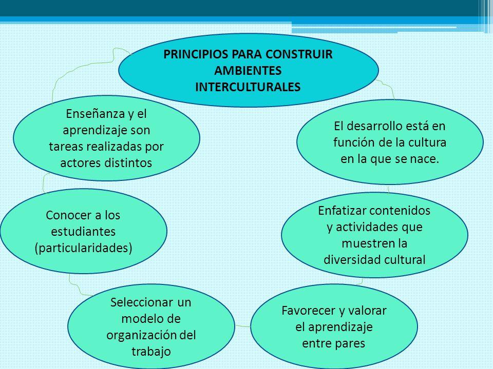 PRINCIPIOS PARA CONSTRUIR AMBIENTES INTERCULTURALES
