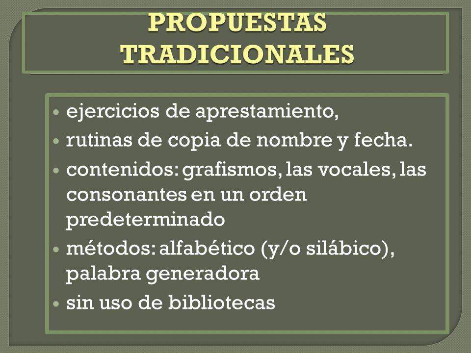 PROPUESTAS TRADICIONALES