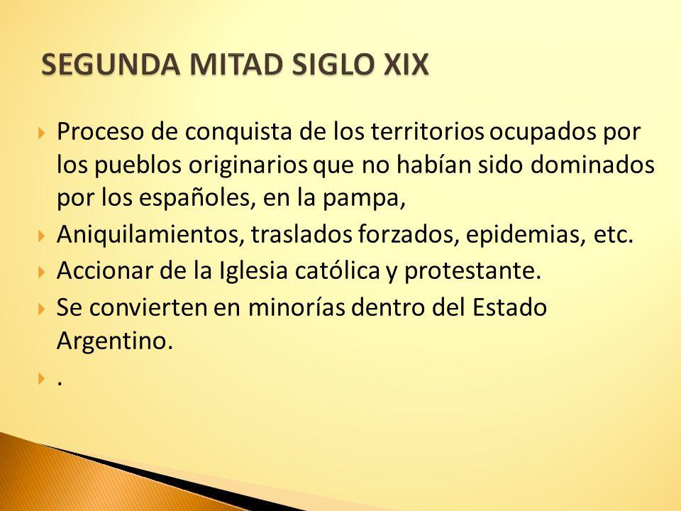 SEGUNDA MITAD SIGLO XIX