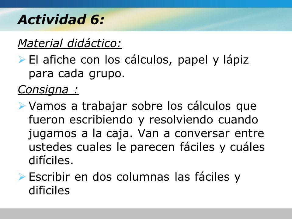 Actividad 6: Material didáctico: