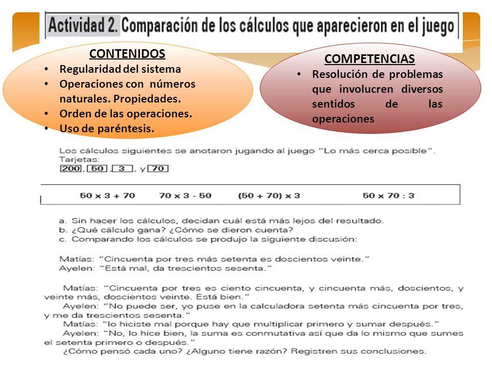CONTENIDOS COMPETENCIAS