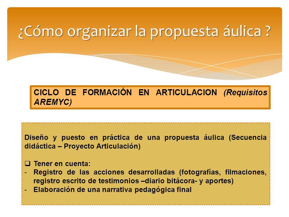 ¿Cómo organizar la propuesta áulica
