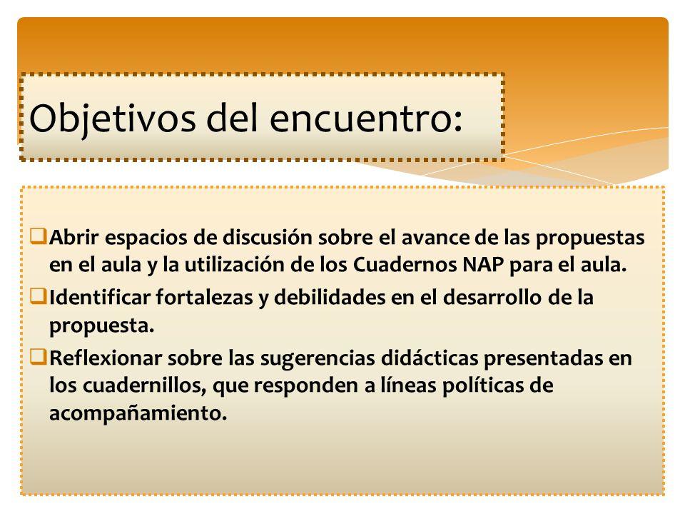 Objetivos del encuentro: