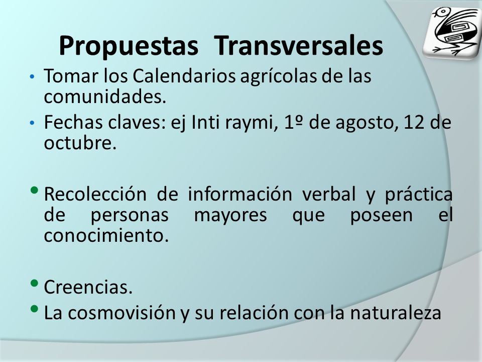 Propuestas Transversales
