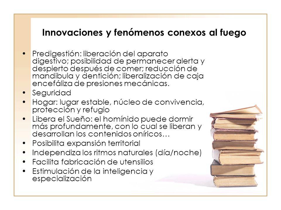 Innovaciones y fenómenos conexos al fuego