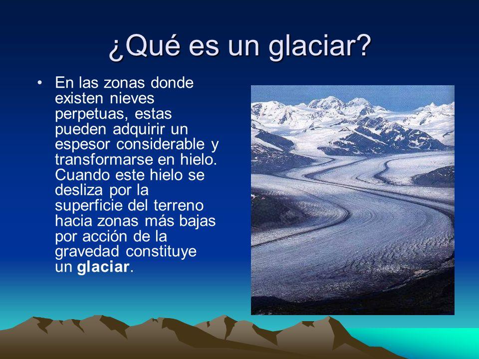 ¿Qué es un glaciar