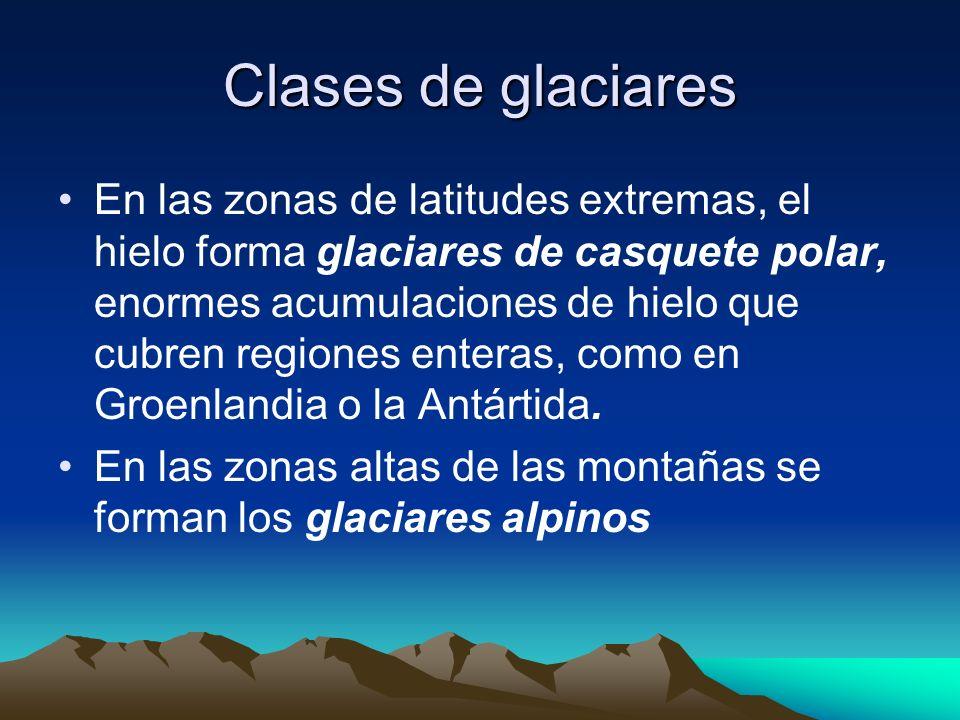 Clases de glaciares