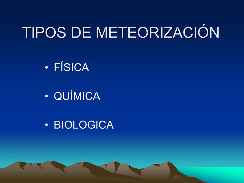 TIPOS DE METEORIZACIÓN