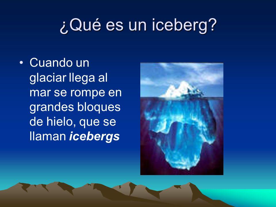 ¿Qué es un iceberg.
