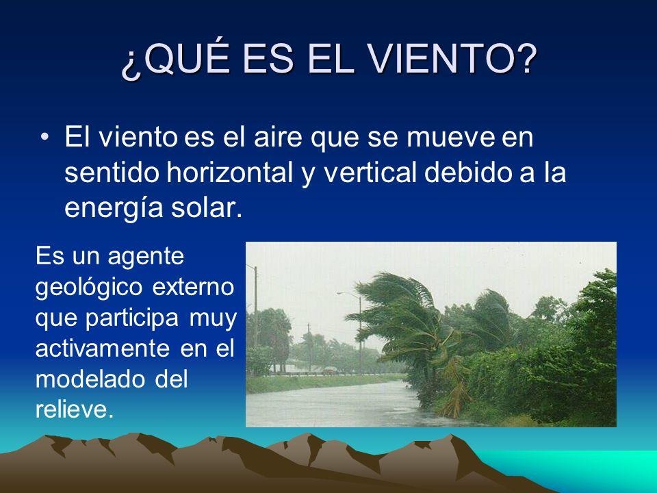 ¿QUÉ ES EL VIENTO El viento es el aire que se mueve en sentido horizontal y vertical debido a la energía solar.