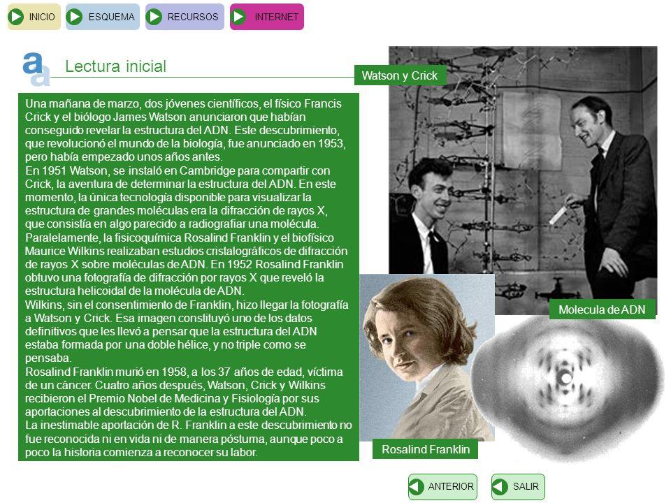 Lectura inicial Watson y Crick